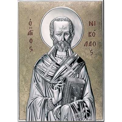 Серебряная Икона Leader Argenti Святой Николай 100х150 05.15.266D