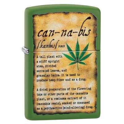 Зажигалка  Zippo Cannabis Design 49119
