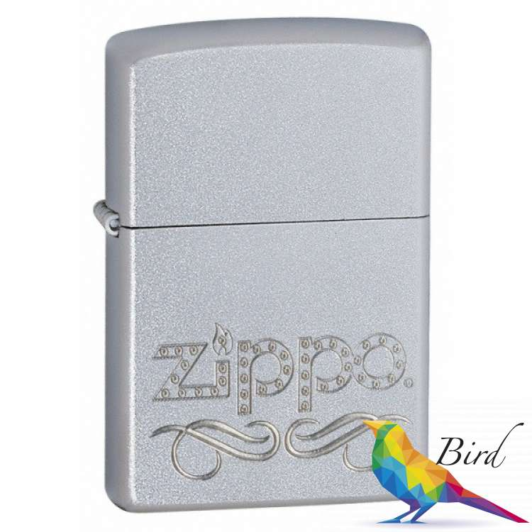 Фото Зажигалка Zippo SCROLL SATIN CHROME 24335 | Интернет магазин Bird.in.ua