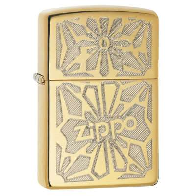 Зажигалка Zippo Ornament High Polish Brass 28450