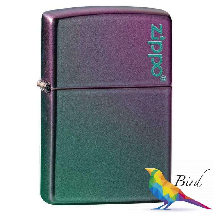 Фото Зажигалка  Zippo Reg Iridescent Matte Logo 49146ZL | Интернет магазин Bird.in.ua
