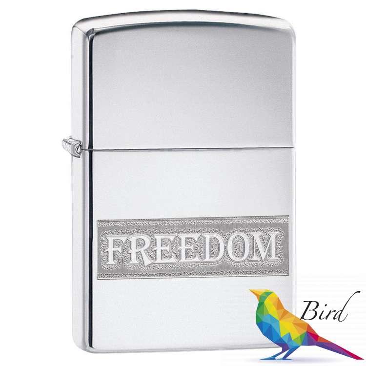 Фото Зажигалка  Zippo Etched Freedom Design 49129 | Интернет магазин Bird.in.ua