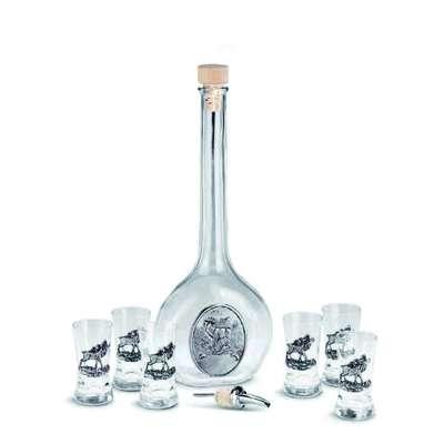 15154   Набор для водки  HIRSCH - 8 предметов