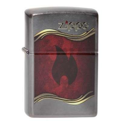 Зажигалка Zippo Flame gray dusk 28378.120