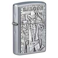 Зажигалка  Zippo Saloon Skull Emblem 49298