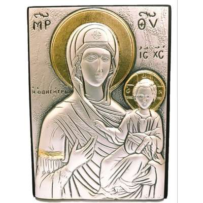 Серебряная Икона Leader Argenti Божьей Матери Одигитрия 70х100 05.39.66D