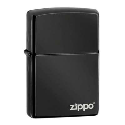 Зажигалка Zippo EBONY W/ZIPPO LOGO 24756ZL