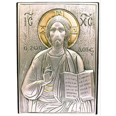 Серебряная Икона Leader Argenti Иисус Христос 70x100 05.39.60D