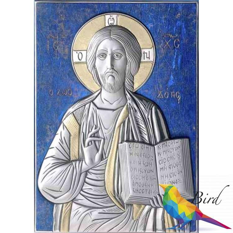 Фото Серебряная Икона Leader Argenti Иисус Христос 130х180 05.13.60B | Интернет магазин Bird.in.ua
