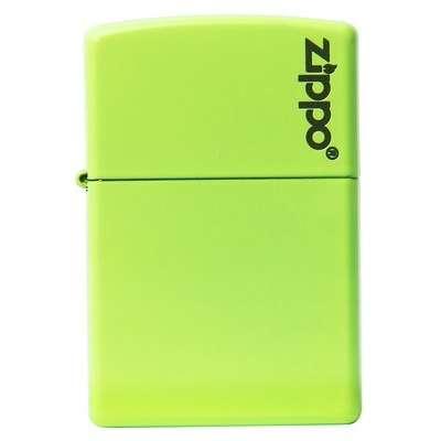 Зажигалка Zippo Neon Yellow Lighter logo 28887ZL