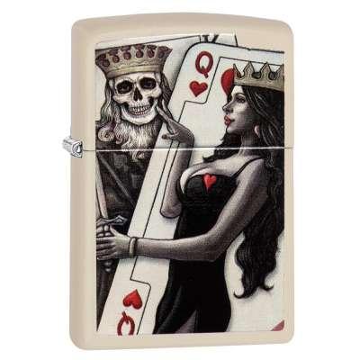 Зажигалка Zippo Skull King Queen Beauty 29393