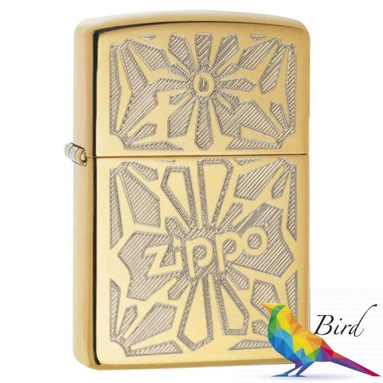 Фото Зажигалка Zippo Ornament High Polish Brass 28450 | Интернет магазин Bird.in.ua