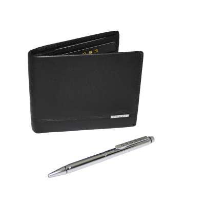Подарочный набор CROSS CLASSIC CENTURY, портмоне из натуральной кожи мужское и ручка шариковая (ACC436B-1)