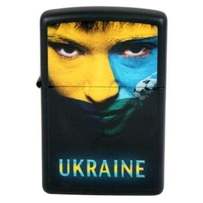 Зажигалка Zippo UKRAINE SOCCER FACE 218US