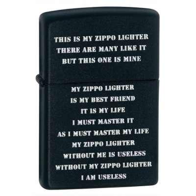 Зажигалка Zippo CREED BLACK MATTE 24710