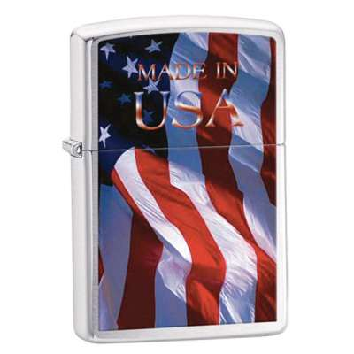 Зажигалка Zippo MADE IN USA FLAG 24797