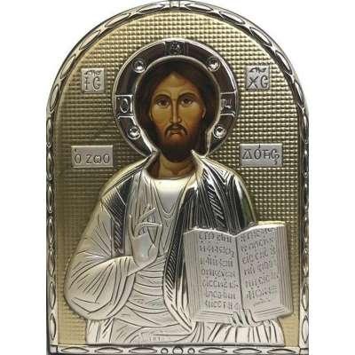 Серебряная Икона Leader Argenti Иисус Христос 80х100 Swarovski 05.B853.60D