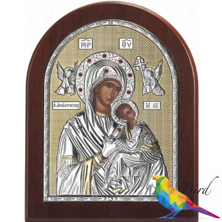 Фото Серебреная Икона Leader Argenti Мадонна АМОЛИНТОС 150х200 Swarovski 05.3965 OL | Интернет магазин Bird.in.ua