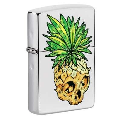 Зажигалка Zippo Leaf Skull Pineapple 49241