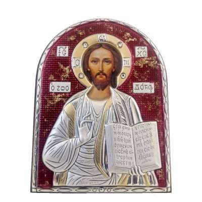 Серебряная Икона Leader Argenti Иисус Христос 80х100 Swarovski 05.B853.60R