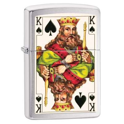 Зажигалка Zippo King Brushed Chrome 28489