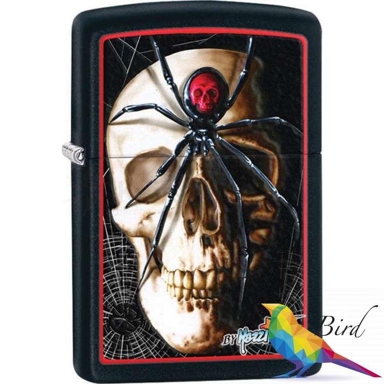 Фото Зажигалка Zippo Mazzi Skull & Spider 28627 | Интернет магазин Bird.in.ua