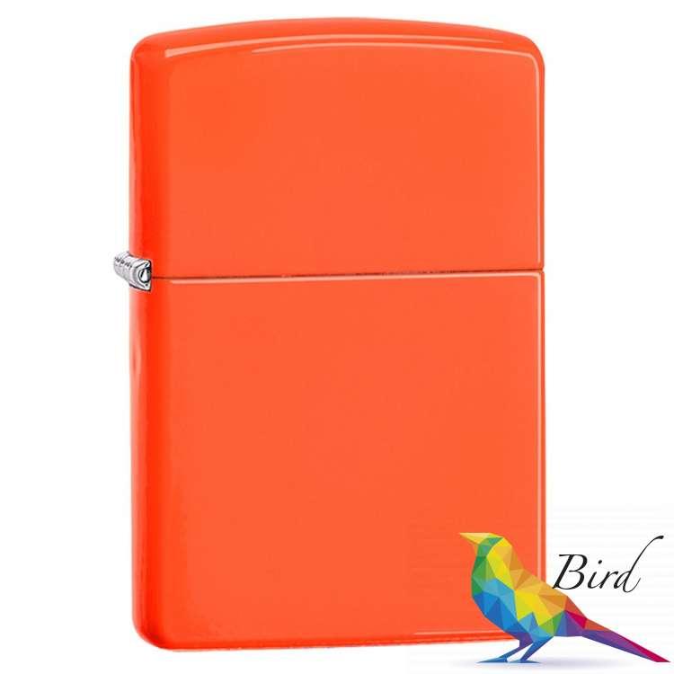 Фото Зажигалка Zippo Neon Orange Lighter 28888 | Интернет магазин Bird.in.ua