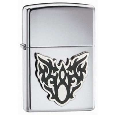 Зажигалка Zippo HIGH POLISH CHROME MOTH TATTOO 20872