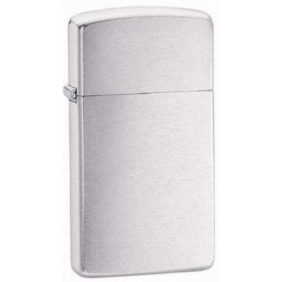 Зажигалка Zippo узкая BRUSH FINISH CHROME 1600