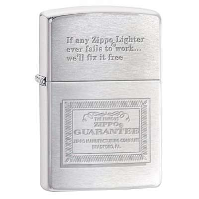 Зажигалка Zippo GUARANTEE 324555