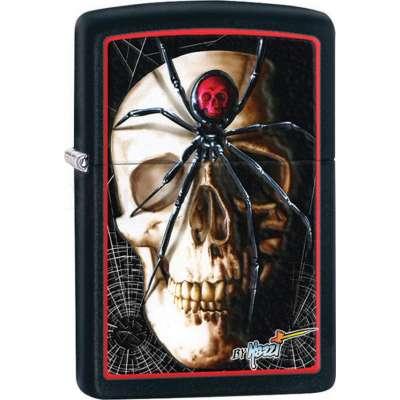 Зажигалка Zippo Mazzi Skull & Spider 28627