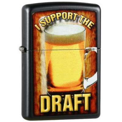 Зажигалка Zippo I SUPPORT THE DRAFT 28294