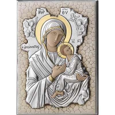 Серебряная Икона Leader Argenti Мадонна АМОЛИНТОС 140х200 мозаика 05.7699.65C