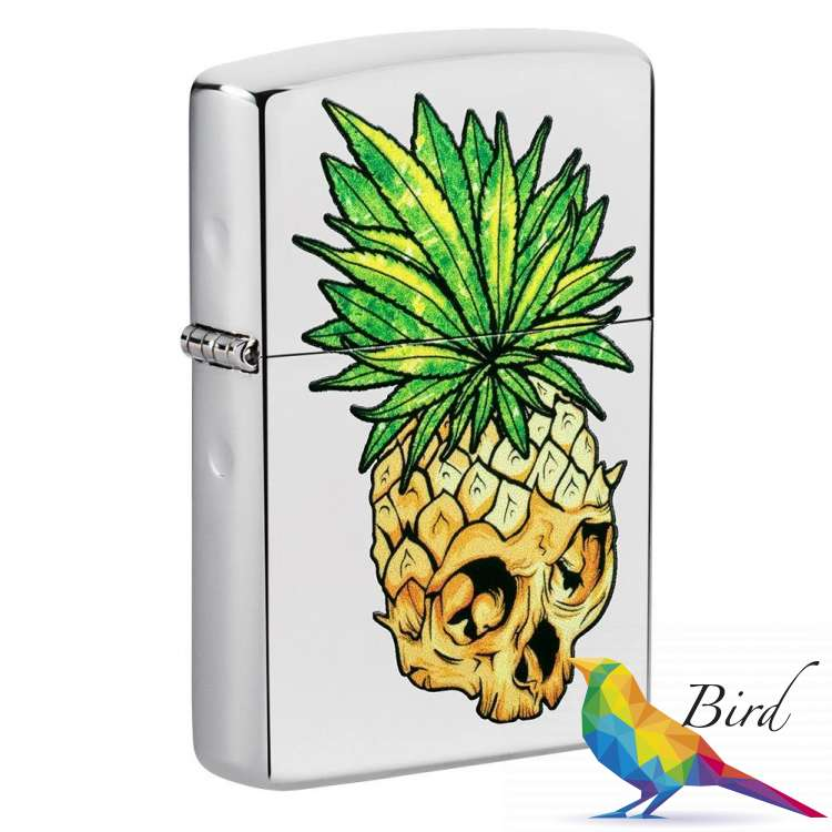 Фото Зажигалка Zippo Leaf Skull Pineapple 49241   Интернет магазин Bird.in.ua