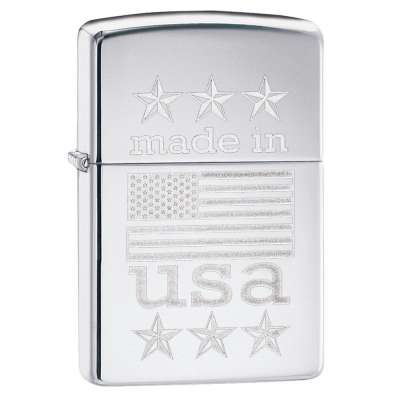 Зажигалка Zippo Made In USA with Flag 29430