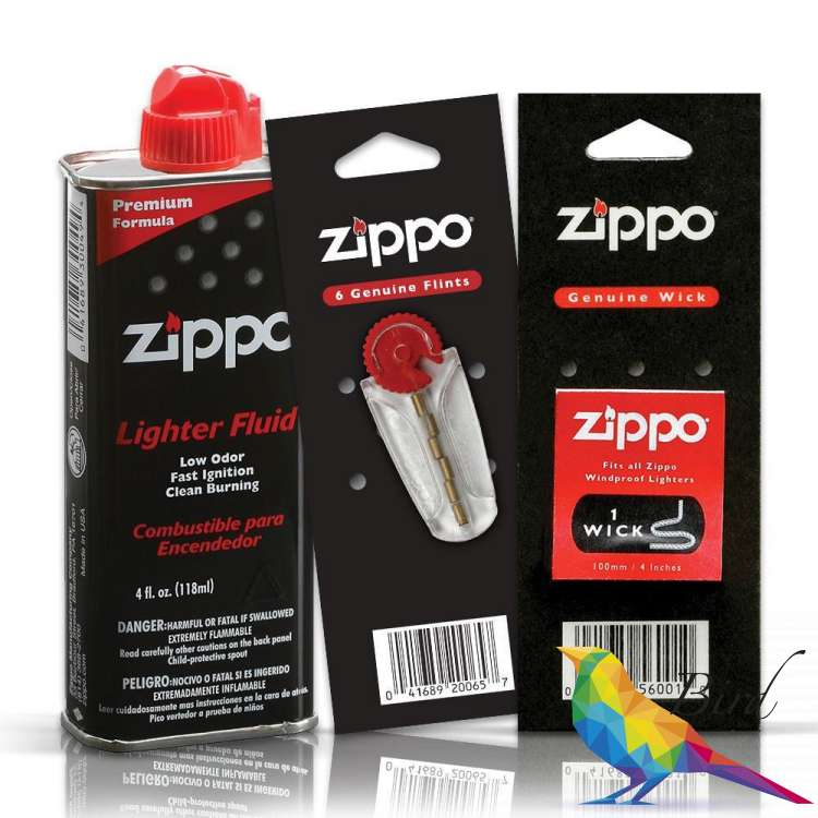 Фото Набор Zippo из Топливо 125 ml + Кремень + Фитиль | Интернет магазин Bird.in.ua