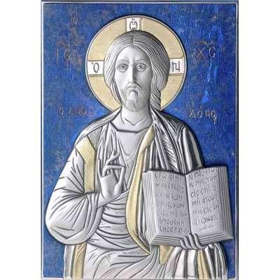 Серебряная Икона Leader Argenti Иисус Христос 130х180 05.13.60B