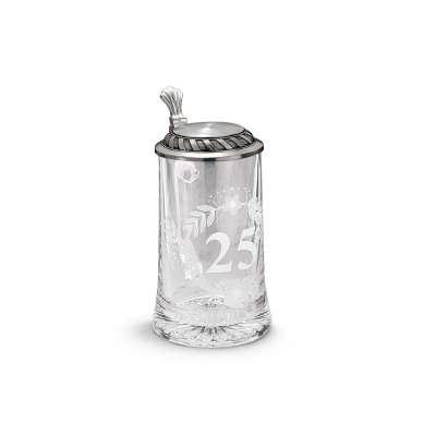 """93371   Кружка для пива """"25 лет"""" 19 см 0,5 л."""