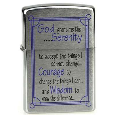 Зажигалка Zippo SERENITY PRAYER BRUSHED CHROME 24355