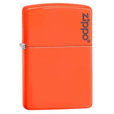 Зажигалка Zippo Neon Orange Lighter LOGO 28888ZL
