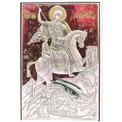Серебряная Икона  Leader Argenti Георгий Победоносец 130х180 05.B813.67R